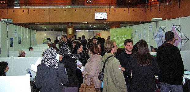 Le public a été nombreux à se rendre au Palais des Congrès pour participer au Job Forum qui s'est tenu de 9h à 17h30. (Photo : Yannis-Christophe Garcia)