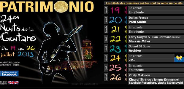 Nuits de la guitare de Patrimonio : Du 19 au 26 Juillet