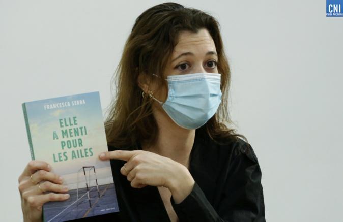 Francesca Serra au lycée Fesch à Ajaccio. Photos : Michel Luccioni
