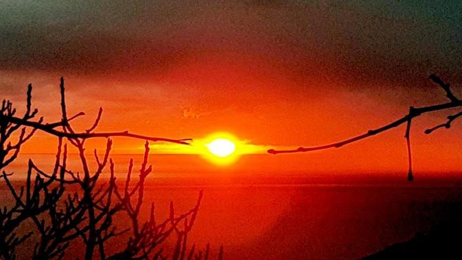 La photo du jour : sole d'invernu tene per un filu