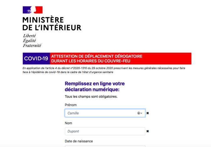 Couvre-feu à 18h : téléchargez l'attestation de déplacement dérogatoire