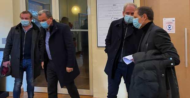 François Tatti, Jean Zuccarelli et Jean-Sébastien De Casalta étaient présents à l'audience du tribunal administratif de Bastia.