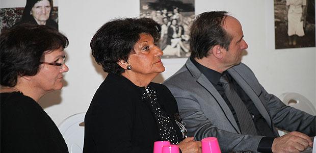 Patricia Maestracci, présidente de l'association Entr'aide et loisirs, Jeannine Maraninchi, déléguée du procureur de la République de la Haute-Corse, Pierre Guidoni maire et conseiller général de Calenzana