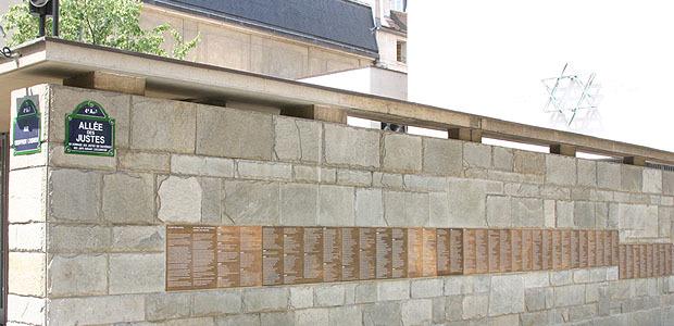 Mur des Justes, Mémorial de la Shoah à Paris (Dr)