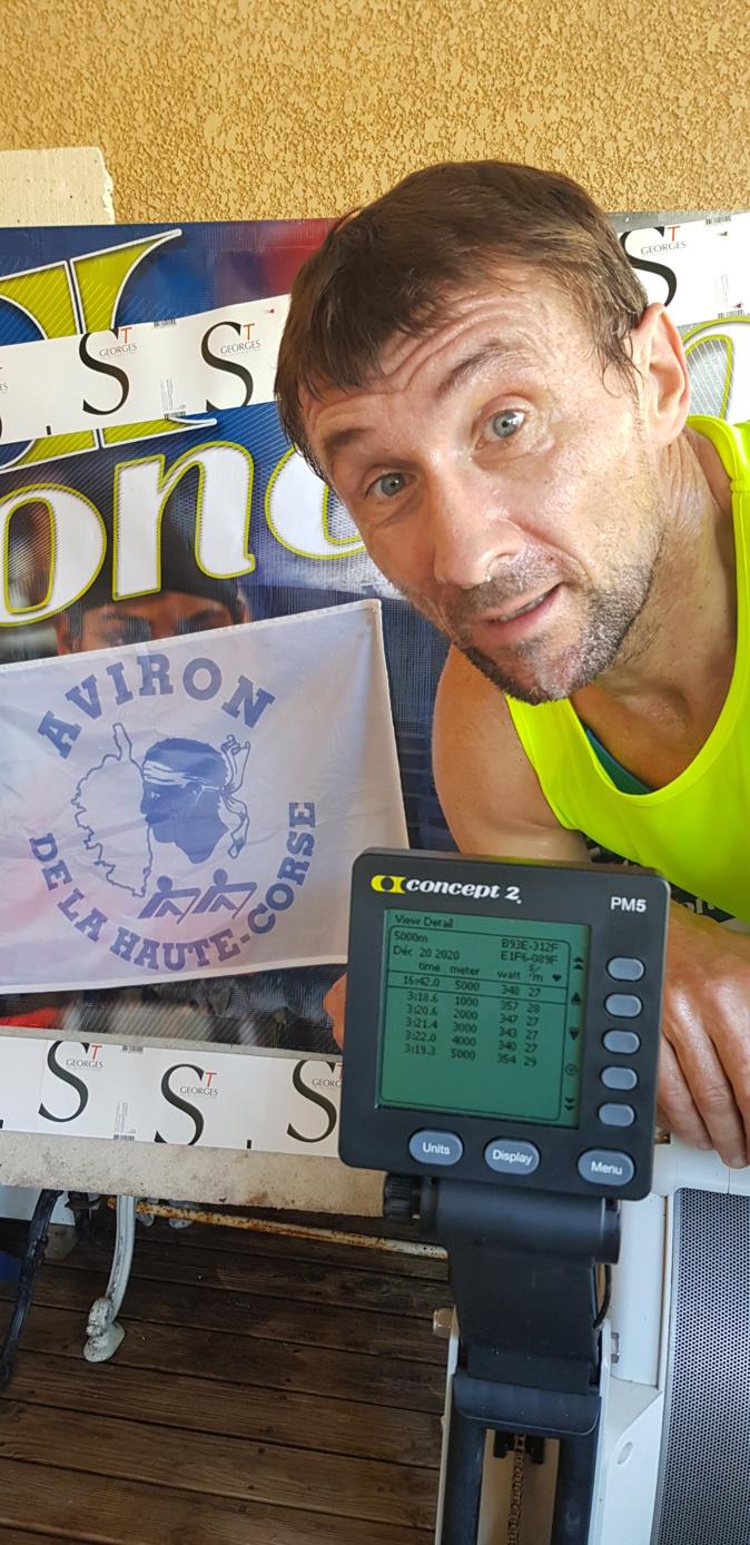 Aviron indoor : Titre et record de France pour Frédéric Kowal de l'Aviron Haute-Corse