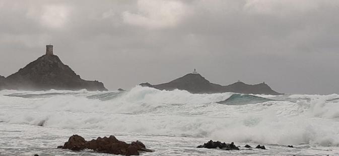 La tempête Justine aux Sanguinaires,  (Photo Pascal Le Dervouët)