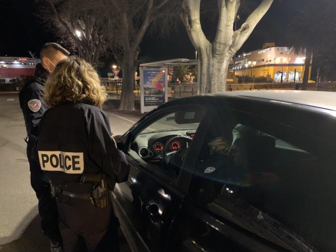 Photo illustration d'un contrôle routier à Bastia