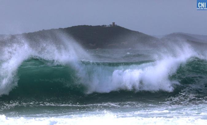 La Corse-du-Sud en vigilance jaune  pour risques de pluie-inondation, orages, vent violent et vagues-submersion