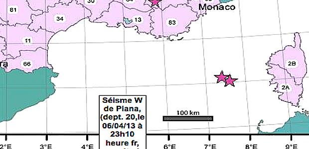 Corse : Encore un séisme au large de Piana