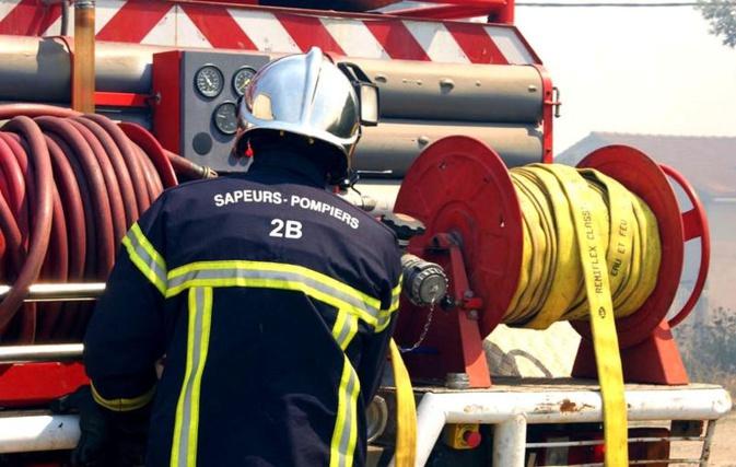 Biguglia : feu de cheminée dans le lotissement St François