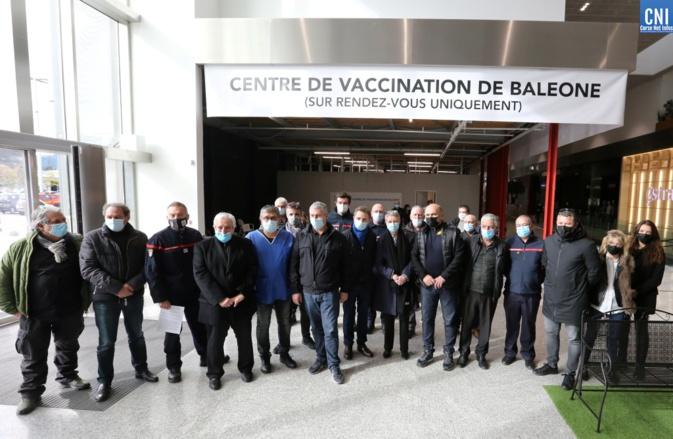 Le nouveau centre de vaccination de Baleone. Photo : Michel Luccioni