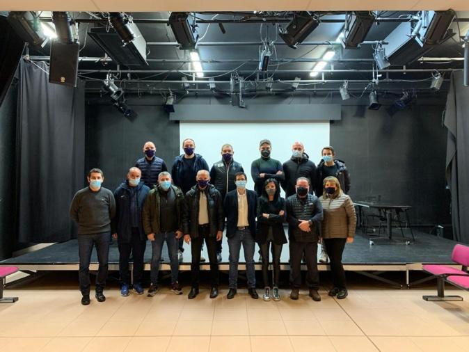 Tous les partenaires du Pôle espoirs étaient présents lors de la visite des instances de la FFF (photo LCF)
