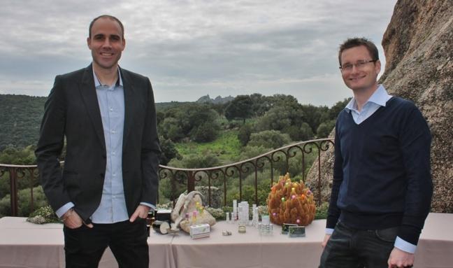 Deux des représentants de la marque Solyvia / Photo Marilyne SANTI