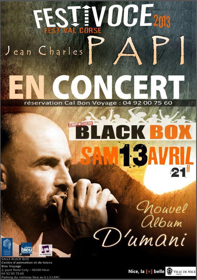 Festivoce de Nice : Jean-Charles Papi à l'affiche