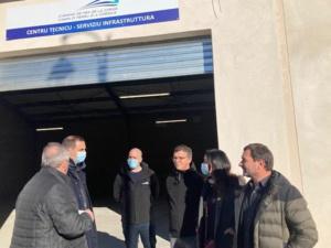 Visite du bâtiment technique rénové des Chemins de fer à Corti en janvier dernier.