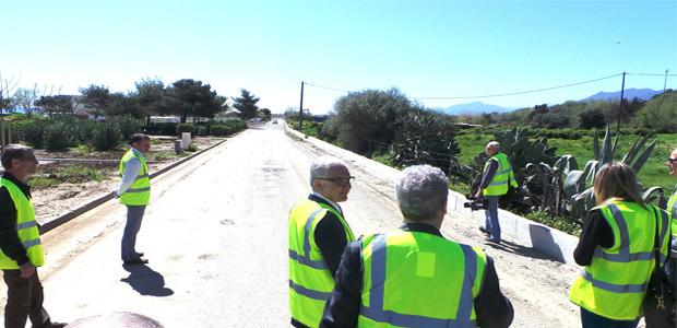 La dernière ligne droite sur laquelle  sera jugée l'arrivée de la première étape du Tour de France 2013