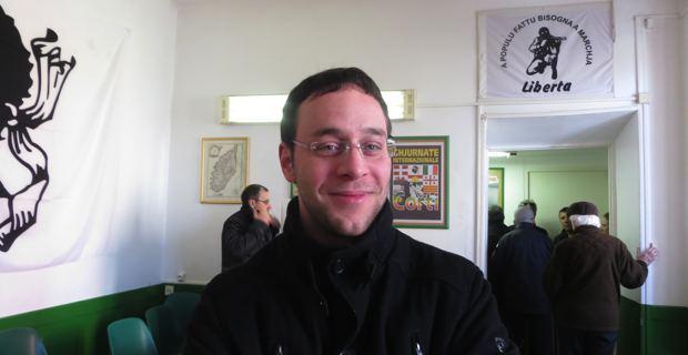 Esteban Saldana, membre de Corsica Libera