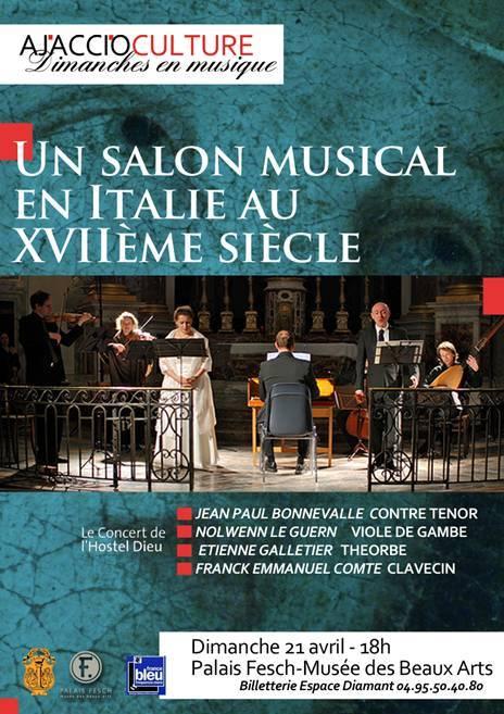 Ajaccio Culture : Un salon musical en Italie au XVIIe siècle