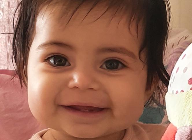 La petite Anaé, onze mois, est actuellement à la Timone en attente d'une transplantation cardiaque.