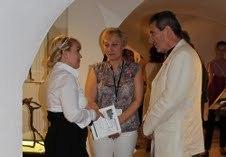 Gabriel Diana en compagnie de la Ministre de la Culture en août (DR)