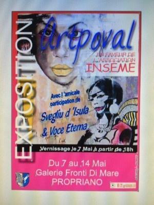 Propriano : Expo-vente d'Artpoval pour Inseme