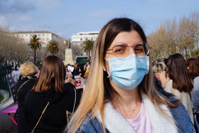 Lauda Guidicelli, conseillère exécutive en charge de l'égalité femmes-hommes, présente à la manifestation de Bastia hier est très impliquée sur les événements de ce lundi 8 mars
