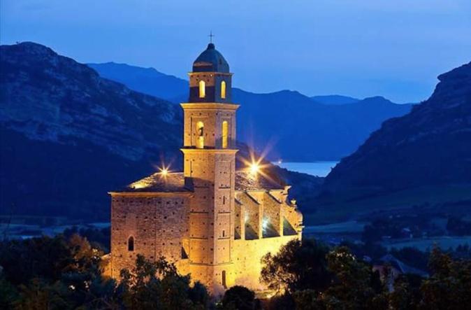L'église San Martinu de Patrimoniu, point de départ en Corse d'A Via San Martinu, itinéraire culturel européen. Photo Jean-Baptiste Andreani.