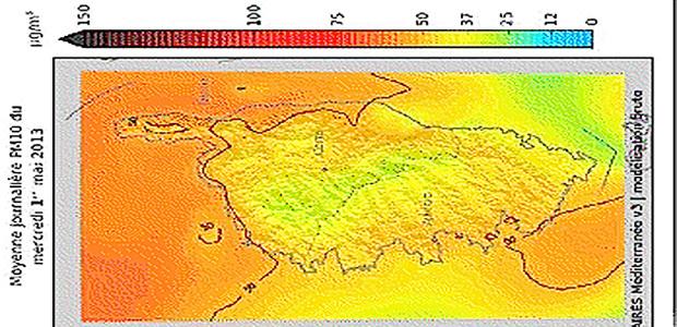 Corse : La qualité de l'air reste médiocre pour Mercredi