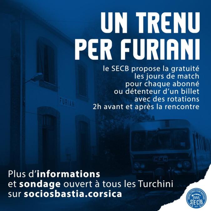 """""""Un trenu per Furiani"""" : Les socios du SCB lancent un sondage auprès des supporters"""