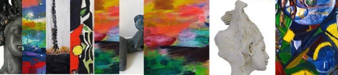 L'expo collective regroupe des œuvres de Papillon (Sculpture), Jean-Claude Pusceddu et Anne L. Raffalli (Peinture)