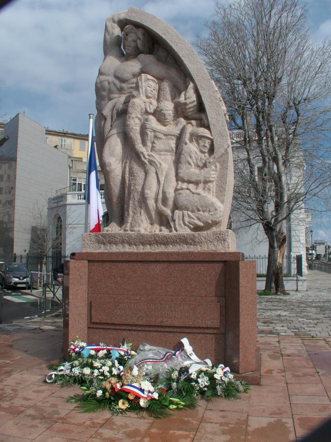 L'hommage à Fred Scamaroni mort le 19 mars 1943 à Ajaccio.