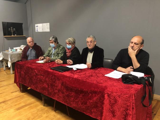 La conference de presse de ce 19 mars. Photo Michel Luccioni