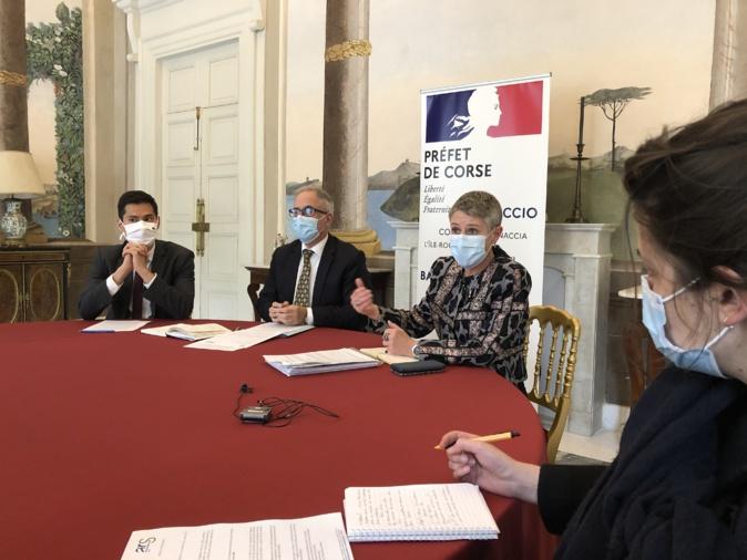 La conference de presse de ce 19 mars en préfecture. Photo Michel Luccioni