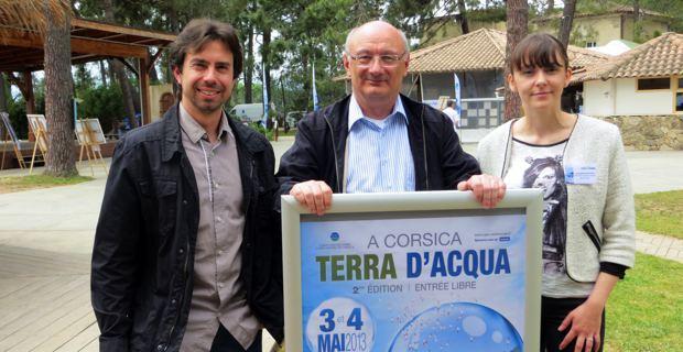 Fabien Arrighi, Antoine Ferracci, Président du CPIE Corte Centre Corse, et Gwenaelle Baldovini