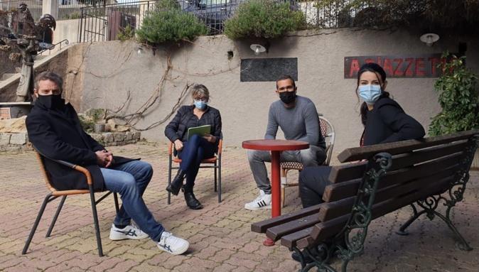 Les élus de Calvi in Core : Jérôme Sévéon, Bernard Giudicelli, Sandra Marchetti et Françoise Tapias.