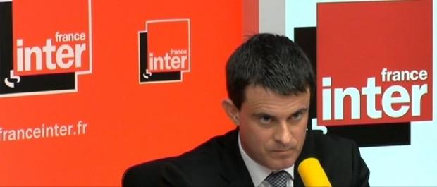 """Le Ministre de l'Intérieur Manuel Valls a réitéré ses propos sur, selon lui, """"une violence enracinée dans la culture Corse"""" au cours d'une interview ce matin sur France Inter. (Photo : France Inter)"""
