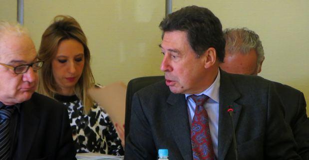 Le 1er adjoint, Ange Rovere, et le maire, Emile Zuccarelli lors de la séance du Conseil municipal de Bastia