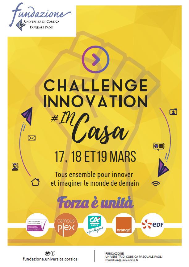 Covid oblige, l'épreuve finale du Challenge Innovation 2021 s'est tenue en visio. Crédits Photo : Fundazione di l'Università di Corsica.