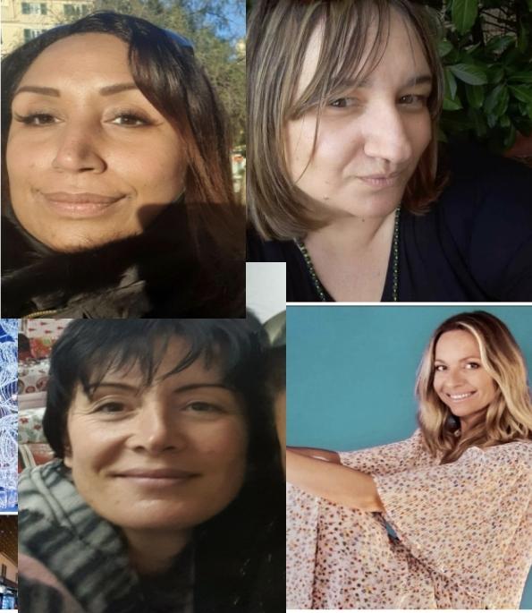 Les femmes membres du collectif « La boite au grand coeur 2A » Sophie Padovani, Alexandra Pierandrei, Vanina Patacchini et Mylène Argot Coltelloni. Photo : La boite au grand coeur 2A