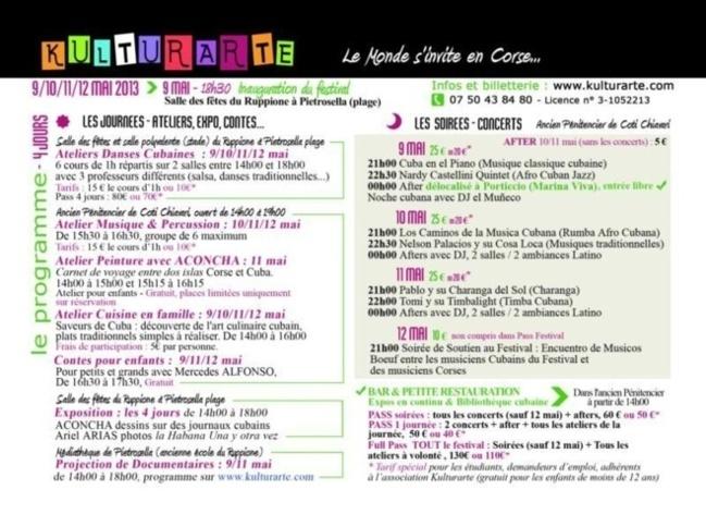 Programme du Festival