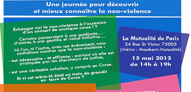 L'AFC Umani : Porte ouverte à la non-violence à La Mutualité