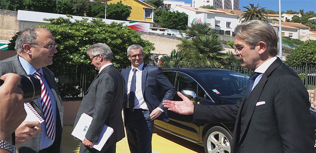 Frédéric Thiriez en visite en Corse