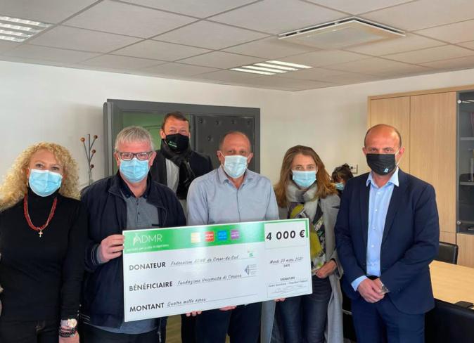 L'ADMR de Corse-du-Sud fait un don de 4000€ à la Fundazione di l'Università di Corsica