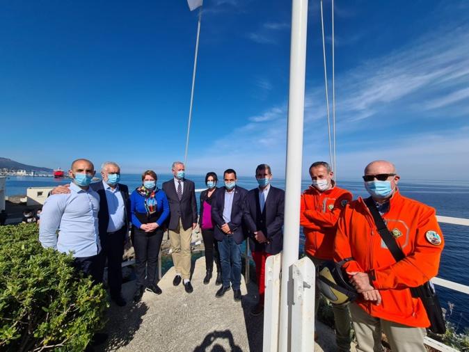 La délégation de la SNSM a pu profiter du cadre exceptionnel qu'offre l'emplacement du lycée maritime de Bastia.(Photo Pierre-Manuel Pescetti)