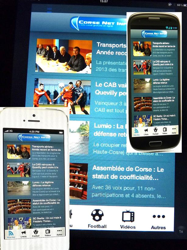 Corse Net Infos : Sur Androïd aussi