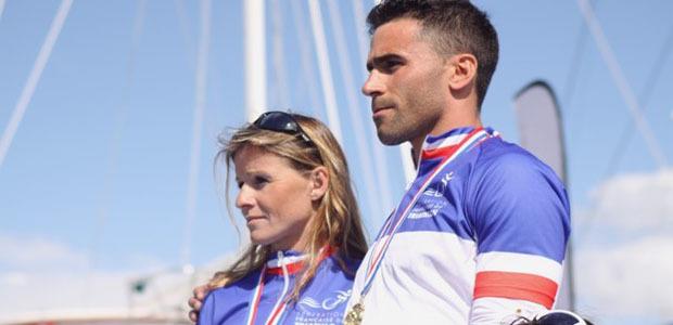 Le Dio vi salvi regina et la Marseillaise pour le podium du championnat de France de triathlon