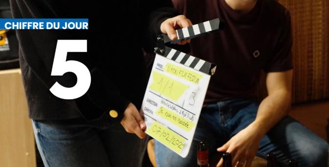 Photo de tournage du film « En Soirée » présenté au Nikon Film Festival