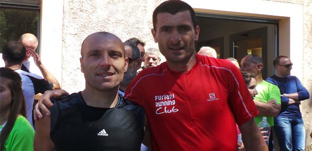 Guerrini (à gauche) et Luciani : Deux beaux vainqueurs