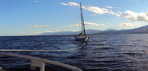 La SNSM remorque un voilier en panne au large de Bastia