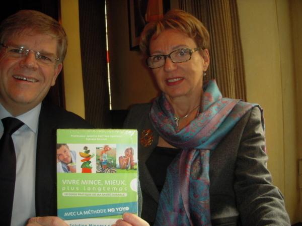 Sylvain Bonnet fondateur de Beautysané® , Professeur Josette Dall'Ava Santucci.(c) Jean-Louis Courleux